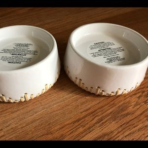 """BNWT """"Ceramic & Rattan"""" Bath & Body Works Pedestal"""